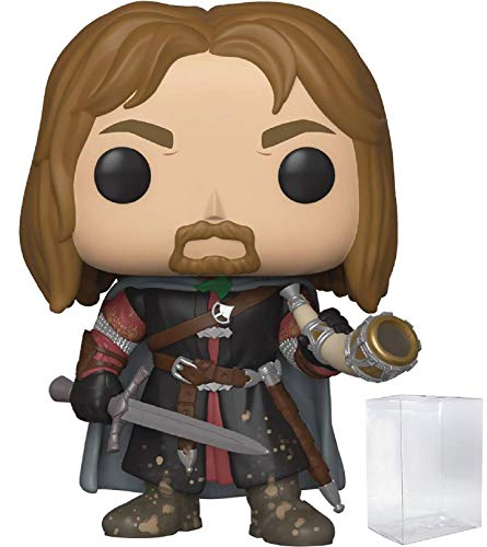 Funko Pop! Movies: The Lord of The Rings - Boromir with Horn of Gondor Vinyl Figure (Includes Pop Box Protector Case)