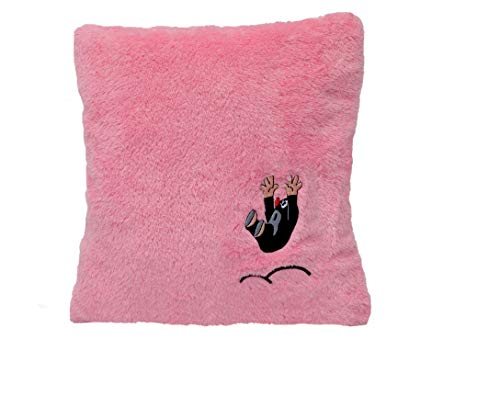 MU BRNO- mollen, kussen roze 30x30 cm