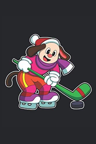Eishockey Notizbuch, 120 Seiten: Hund - Geschenke - Eishockey Notizbuch - Tagebuch für Frauen, Männer und Kinder - Punktraster