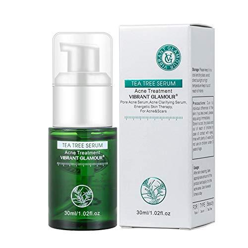 Suero facial de árbol de té Tratamiento de acné de espinillas Reparación de acné natural Esencia facial Blanqueamiento Control de aceite hidratante Mejora el cuidado de la piel sensible