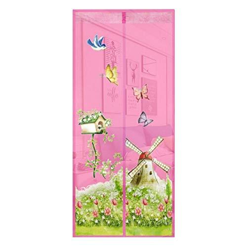4 Farben magnetischer automatischer Adsorptions-Freisprechvorhänge, Moskitonetze, insektensichere Netze mit Magneten an Türen und Fenstern, Anti-Moskito-Vorhänge A3 B110xH210