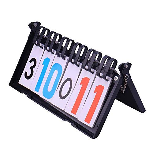 N\A Scoreboard Score Keeper, 6 Flip Flip Portable Digital Flip Score para Baloncesto, Fútbol, Fútbol, Tenis, Voleibol, Ping-Pong, Bádminton, Juegos De Competición