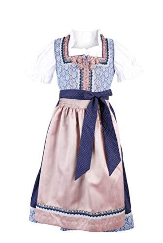 Krüger - Kinder Trachten Dirndl, Kinderdirndl in Blau (Artikelnummer: 45511-8)