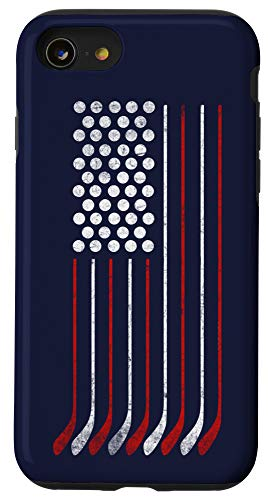 iPhone SE (2020) / 7 / 8 American Flag Hockey USA Patriotic Perfect Gift for Birthday Case