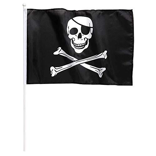 Widmann. Piratenvlag met staaf - afmetingen 43 x 30 cm