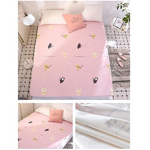 Katoen en Polyester Waterdichte Bed Sheet Matrashoes met Elastische Band Koning Queen Volledige Twin Size Hoeslaken 180x200cm C