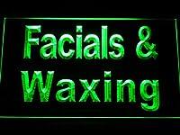 ADVPRO Facials & Waxing LED看板 ネオンプレート サイン 標識 Green 600 x 400mm st4s64-m085-g