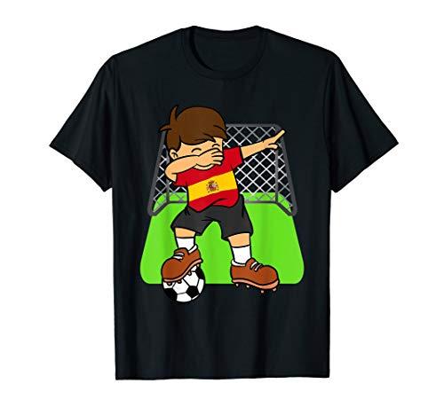 Spanien Soccer Ball Dabbin Kid Spanier Fußball Tor Spieler T-Shirt