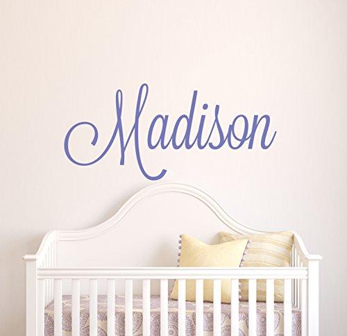 personnalisée Monogramme Girl Nom Sticker mural – Filles Enfants Décoration de chambre – Chambre d'enfant Stickers muraux – Nom Décoration murale 40Wx20