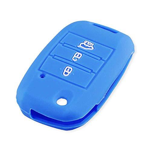 NASHDZ Carcasa de protección automática 3 Botones Funda de Silicona para Llave de Coche, Apta para KIA SID Rio Soul Sportage Ceed Sorento Cerato K2 K3 K4 K5