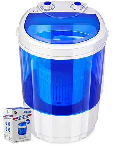 Portable Single Tub Washer And Spin Dryer- The Laundry Alternative- Mini Washing Machine- Portable Clothes Washer And Dryer- Travel Washing...