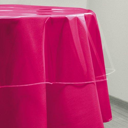 Toile cirée de protection ronde 180 cm transparente - Linge de table imperméable