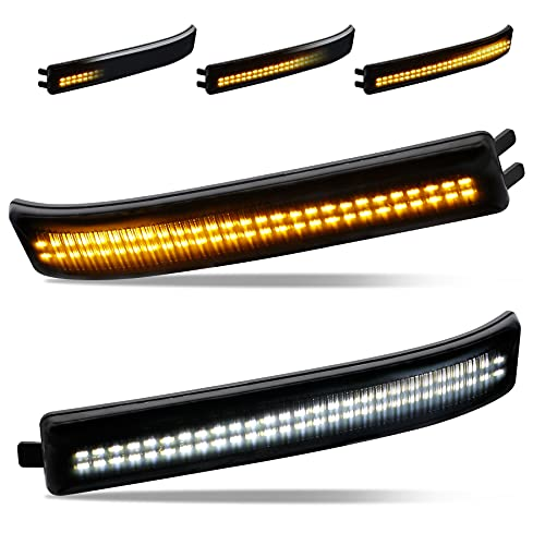 ADZERD Smoked LED Side Mirror Reflector Switchback Sequential Turn Signal Lights...
