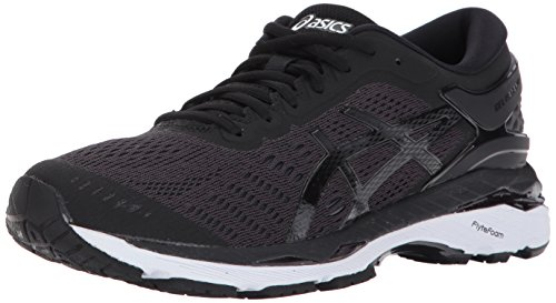 ASICS Women's Gel-Kayano 24 Running Shoes, 8.5M, Black/Phantom/White