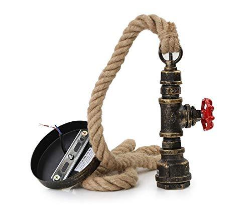 Preisvergleich Produktbild Vintage Seil Pendelleuchte Retro Hanfseil Hängelampe AC220V 1X E27 Fassung (ohne Birne) 100cm Vintage Seil Hängelampe Pendelleuchte für Wohnzimmer Bar Öffentliche Plätze Dekor