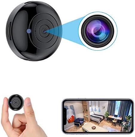 2021 Version FECOMI Mini Spy Camera Hidden WiFi Cam 1080P Wireless Small Nanny Cam w Auto Night product image