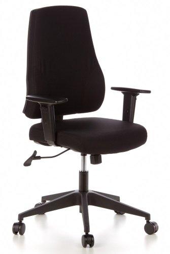 Preisvergleich Produktbild hjh OFFICE 608100 Bürostuhl PRO-TEC 100 Stoff Schwarz Drehstuhl ergonomisch mit Verstellbarer Arm- & Rückenlehne