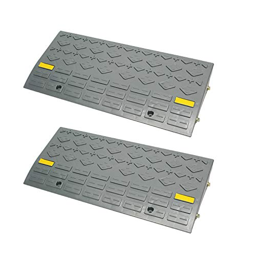 BISupply Curb Ramps for Driveway Ramps for Low Cars, Car Ramps, Motorcycle Ramp, Threshold Ramp, Loading Ramps 4in 2pk