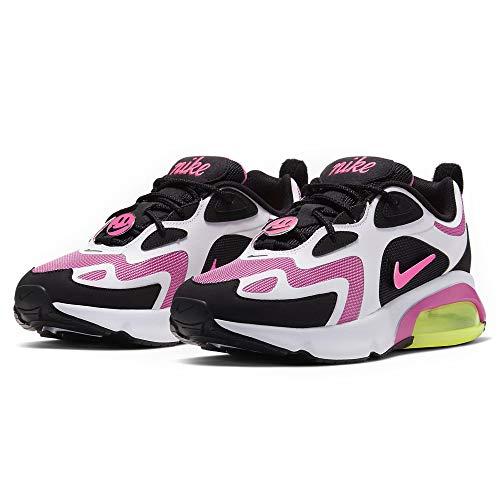 Nike Womens Air Max 200 Casual Shoes (Black/Hyper Pink, Numeric_6)