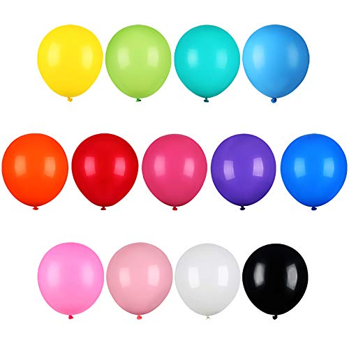 Coceca 126Pcs Rainbow Balloons 12 Inches 13 Colors of Rainbow Party Latex Balloons for Party Decoration Birthday Party Supplies or Arch Decoration