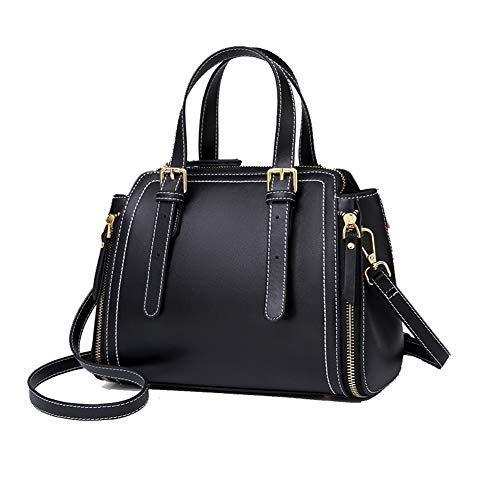 Lederen dames schoudertas, wild Messenger tas grote capaciteit handtas boodschappentas, geschikt voor winkelen school dating