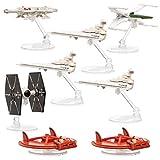 Hot Wheels Star Wars, Set of 8,Star Wars Toys, Diecast Ships: Original Concept Millennium Falcon, X-Wing, Tie Fighter, Landspeeder, Star Destroyer Collectibles