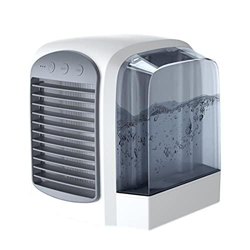 illuMMW Aire Acondicionado Portátil Ventilador USB Personal Pequeño Aire Acondicionado Humidificador Escritorio Mesa Refrigeración Fan Hogar Oficina