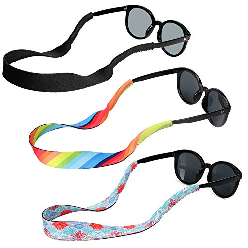 Hifot cordon gafas de sol soporte corre 3 Piezas, Neopreno Universal Fit cuerda retención, Flotante cordón gafas de sol