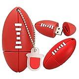 Clé USB Flash Drive Disque U Memory Mémoire Stick Pen USB2.0 Nouveauté Créatif Dessin Animé Mignonne Cool Drôle Ventilateur World Cup Commémorer Cadeau Ballon Forme Mouvement (64GB,Rugby A)