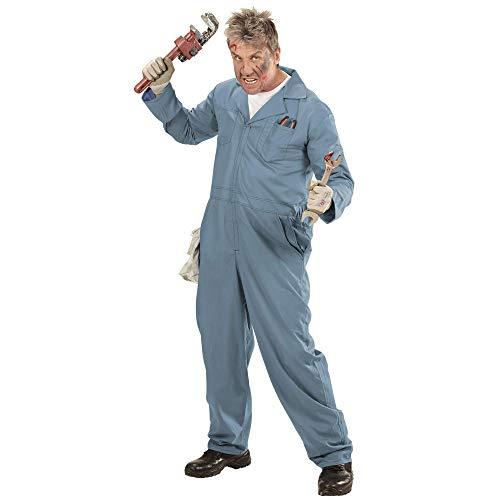 WIDMANN Disfraz de mecánico para adultos, fontanero, soldador, multicolor, extra-large (07364)