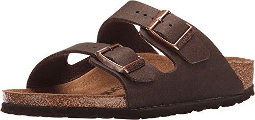 Birkenstock PETA Approved Vegan Arizona Women Sandals (38 M EU, Cacao Microfiber)