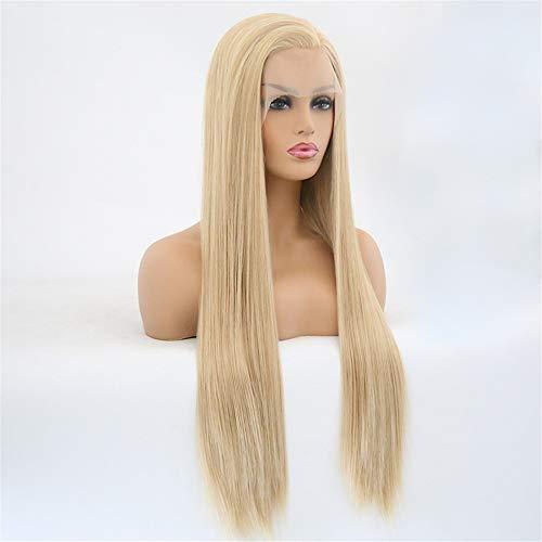 Lace Front perruque longue ligne droite noire perruques pour les femmes 26\