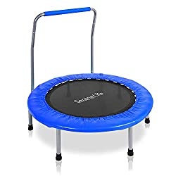cheap The Serenelife High Resilience Sport Trampoline is a 36 inch heavy jump mat with 26 inch coil springs.