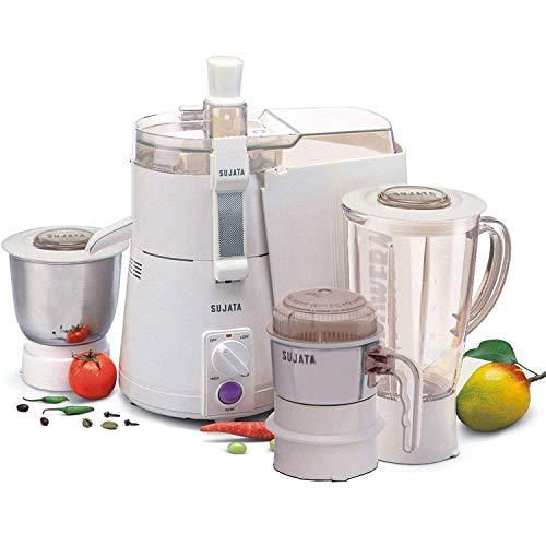 SUJATA powermatic Plus Juicer Mixer Grinder and Chutney Jar with Bag (White)
