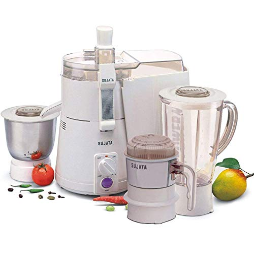 SUJATA powermatic Plus Juicer Mixer Grinder and Chutney Jar with Bag (White)