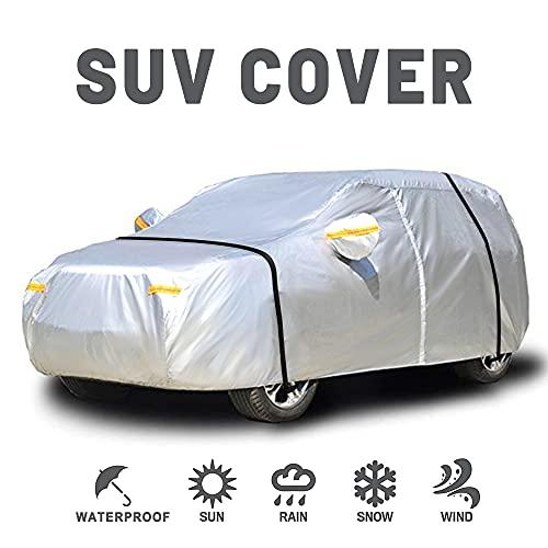 NEVERLAND Taglia XL 510x200x180CM Copriauto Copertura SUV Protezione Solare UV da Pioggia con Cerniera Antivento Antipolvere AntiGraffio