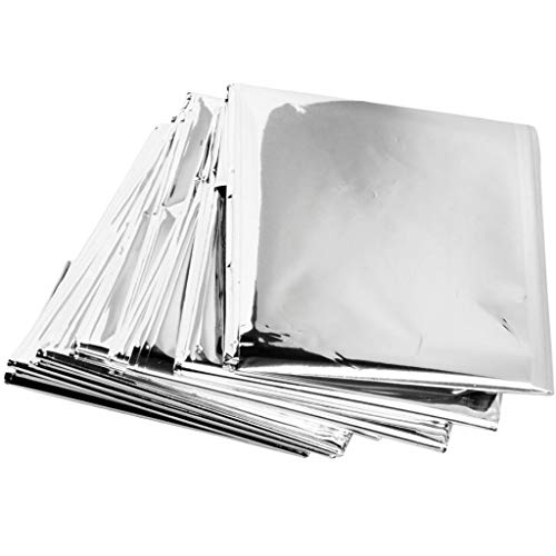 ZIP Emergency Mylar Thermal Blankets (Pack of 100) - Individually Packaged- 84' x 52'