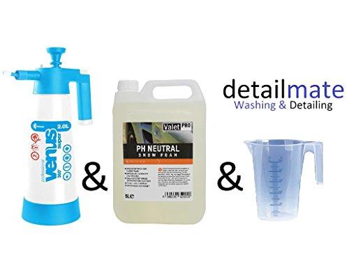 ValetPRO pH Neutral Snow Foam 5 l + Kwazar Super Foam 2 l + verre doseur detailmate 250 ml
