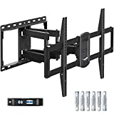 Eono by Amazon - Soporte de Pared TV Giratorio Inclinable para Muchos 42-70 Pulgadas Televisores de LED, LCD, OLED con VESA Entre 200x100 y 600x400 mm y 45,5kg, Soporte TV de Articulado PL2617