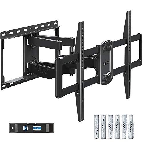 Amazon Brand – Eono TV Wandhalterung Schwenkbar Neigbar, Fernseher Wandhalterung mit Doppel Arm für meiste 42-70 Zoll, einige bis zu 75 Zoll TVs bis zu 45.5kg mit max. VESA 600x400mm PL2617