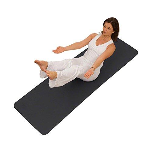 AIREX Pilatesmatte Yogamatte Pilates Gymnastik Fitness Matte 190 cm anthrazit