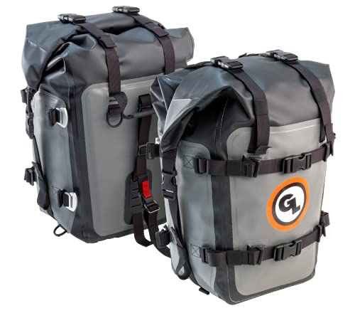 Giant Loop Mototrekk Panniers, Waterproof Side Luggage Rack-Mounted, Universal Fit, Ideal for Adventure Touring, Sport Touring, Dual Sport & More