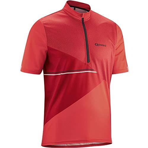 Gonso Ripo Half-Zip Kurzarm Radshirt Herren high Risk red Größe L 2021 Radtrikot kurzärmlig