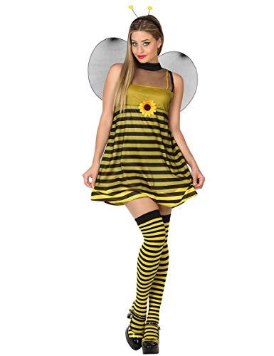 Atosa-26756 Disfraz Abeja, color amarillo, XS-S (26756)