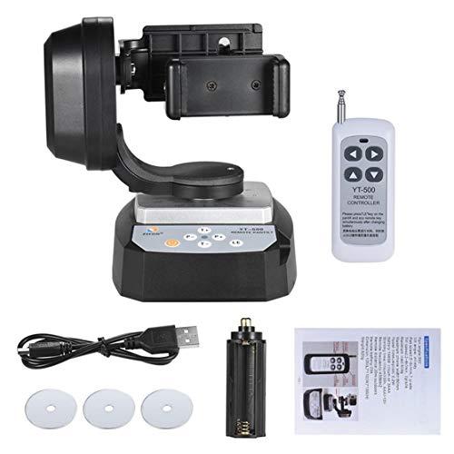 zhouweiwei Yt-500 Panorámico eléctrico Control Remoto Gimble Teléfono móvil Temporizador automático Trípode en Vivo para Gopro Micro Single para cámara Sony Qx