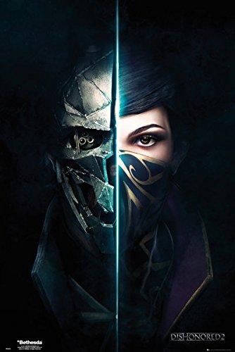 Dishonored 2–Gaming Poster/Kunstdruck (Game Cover/Gesichter) (Größe: 61x 91,4cm) (by Poster Stop Online), Unframed, Unframed