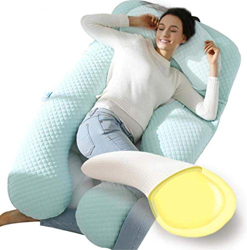 Knoijijuo Ganzkörperkissen Schwangere Regulierung 360 ° Side Schlaf für Maternity Belly/Multifunktionale Total BodySchwangerschaft Maternity Pillow