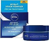 NIVEA Gute Nacht Pflege 24h Feuchtigkeit + Regeneration (50 ml), Gesichtscreme für die Hautregeneration über Nacht, Nachtcreme mit Vitamin E, Lotus Extrakt und Antioxidans