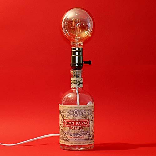 Flaschenlampe, Edison Lampe, Boho Tischlampe, moderne Vintage Leuchte aus einer Flasche, Leuchtflasche