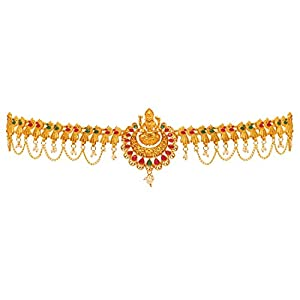 Preyans From Jaipur Mart Kamarband Belly-Chain Tagdi for Women(Golden) (KMBND339MG)